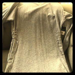 Cute Project Runway Gray Sweatshirt Dress